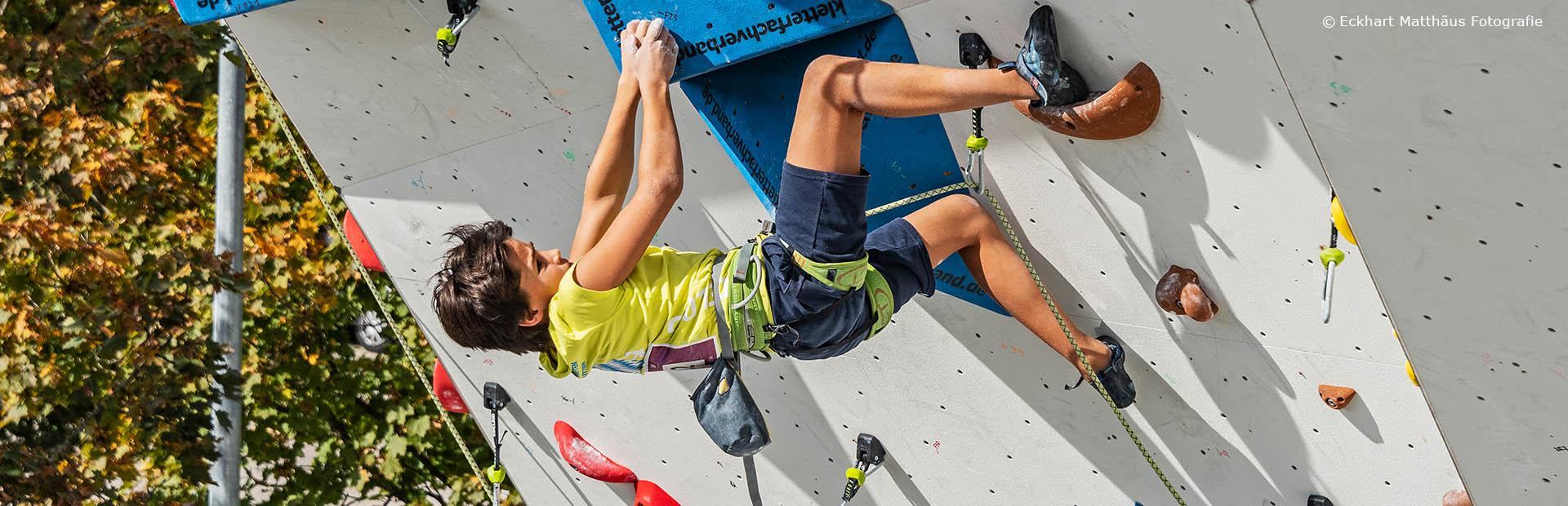 Home-Wettkampf-Kletterer